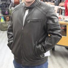 Biker-Lederjacke grau